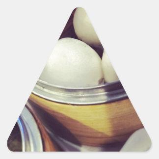 点心の午後 三角形シール