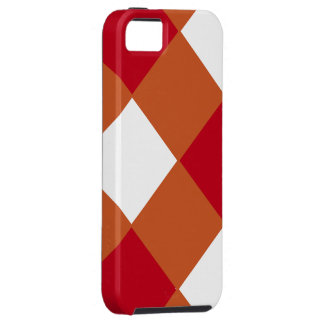 点検されるあずき色および燃やされたオレンジ iPhone 5 タフケース