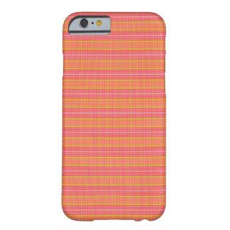 点検されるピンクおよび緑のストライプ- iPhone6ケース Barely There iPhone 6 ケース