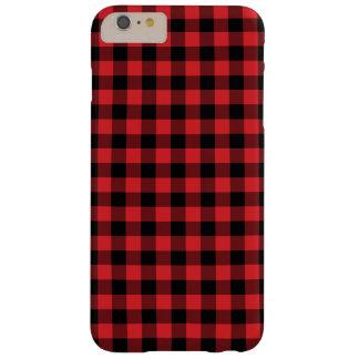 点検されるプレッピーで赤くおよび黒いバッファロー BARELY THERE iPhone 6 PLUS ケース