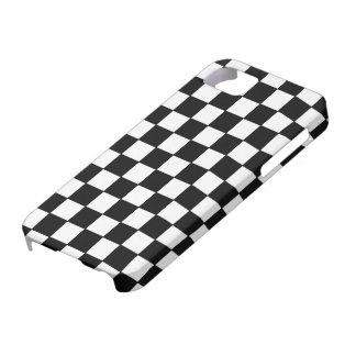 点検される白黒- iPhone 5の場合 iPhone 5 ベアリーゼアケース