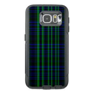 点検される青および緑の格子縞 オッターボックスSamsung GALAXY S6ケース