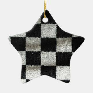 点検して下さいパターン(編み物)を セラミックオーナメント