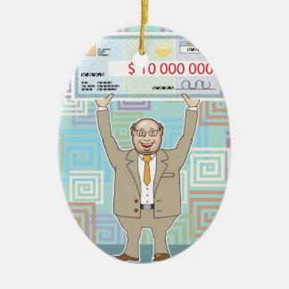 点検のベクトルを保持している宝くじ当選者10M セラミックオーナメント