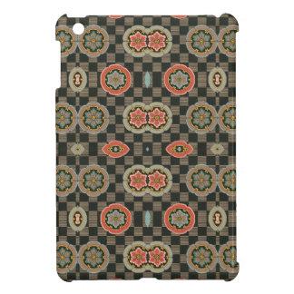 点検のヴィンテージの幾何学的な花柄 iPad MINI カバー