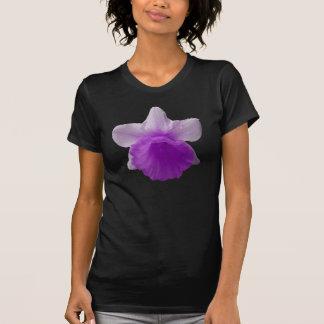 点滴注入のラッパスイセンの紫色の女性ティー Tシャツ