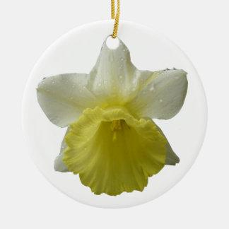 点滴注入のラッパスイセンの花のオーナメント セラミックオーナメント