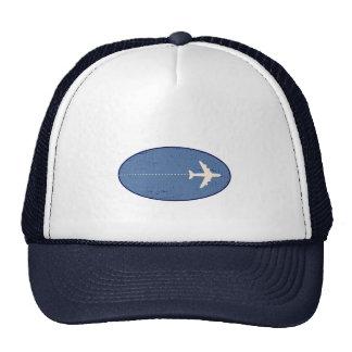 点線が付いている旅行飛行機 帽子