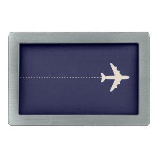 点線が付いている旅行飛行機 長方形ベルトバックル
