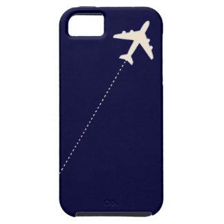 点線が付いている旅行飛行機 iPhone SE/5/5s ケース