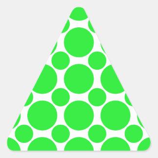 点2の緑 三角形シール