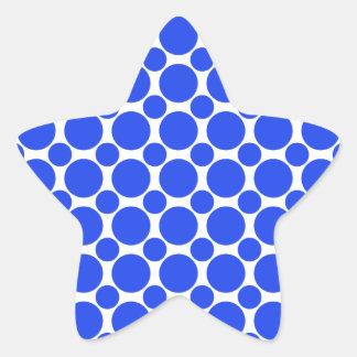 点2の青 星シール