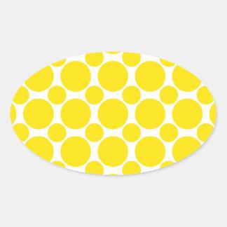 点2の黄色 楕円形シール