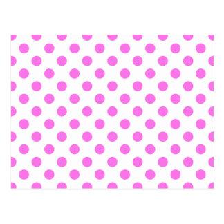 点-ピンク(水玉模様のデザイン)の~ ポストカード