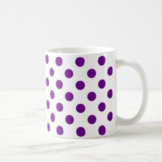点-暗い紫色の(水玉模様のデザインの) ~ コーヒーマグカップ