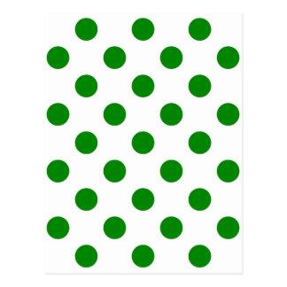 点-緑の緑の(水玉模様のデザインの) ~ ポストカード