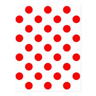 点-赤い(水玉模様のデザインの) ~ ポストカード