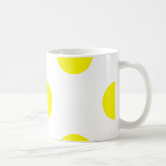 点-黄色(水玉模様のデザイン)の~ コーヒーマグカップ