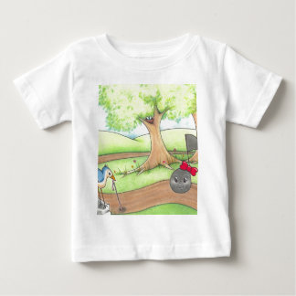無くなった子守唄の鳥および子守唄 ベビーTシャツ