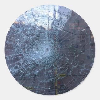 無くなった -- 壊れたガラスおよび地図を使って ラウンドシール