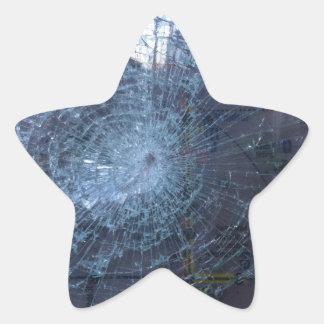 無くなった -- 壊れたガラスおよび地図を使って 星シール