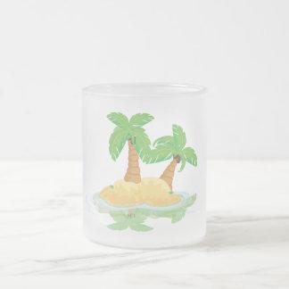 無人島 フロストグラスマグカップ