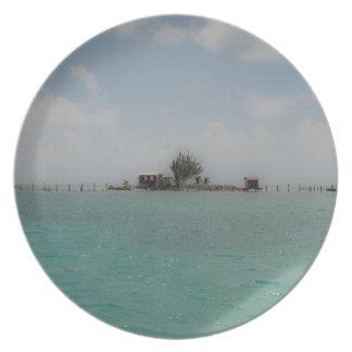 無人島 プレート
