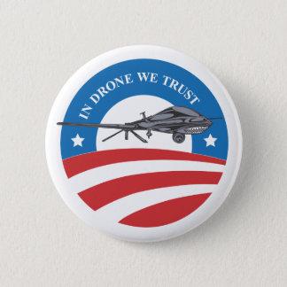 無人機のオバマ私達信頼勝利ボタン 缶バッジ
