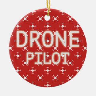 無人機のパイロット セラミックオーナメント