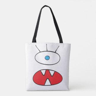 無名の獣-全にプリントのトートの白 トートバッグ