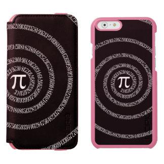 無地ので黒い装飾のPiのための螺線形 Incipio Watson™ iPhone 5 財布型ケース