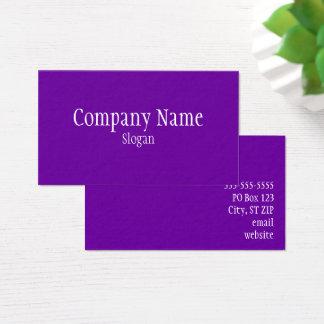 無地のなすみれ色の紫色 名刺