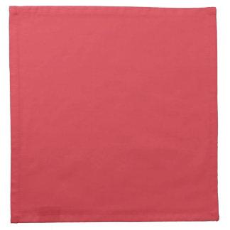 無地のなケシの赤い布のナプキン ナプキンクロス