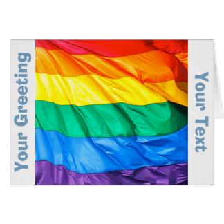 無地のなプライド-ゲイプライドの旗のクローズアップ カード