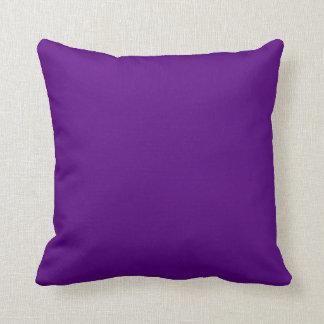 無地のなプラム紫色のリバーシブルのダイヤモンドの一定のアクセント クッション