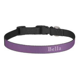 無地のな紫色の白人の音名のミニマリスト ペット首輪