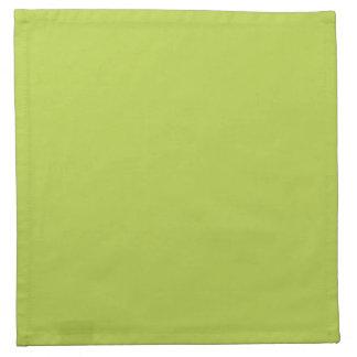 無地のな貨幣は緑の布のナプキンを撃ちます ナプキンクロス