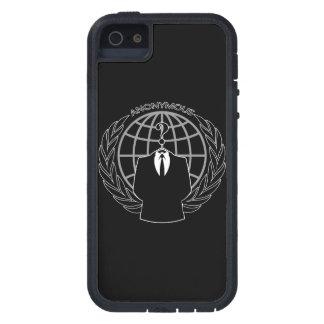 無地のな黒のクールな匿名のロゴタイプ iPhone SE/5/5s ケース