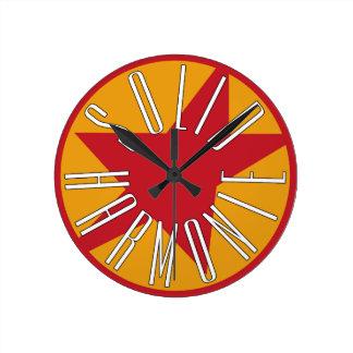 無地のなHarmoniEのクラシックのロゴ ラウンド壁時計