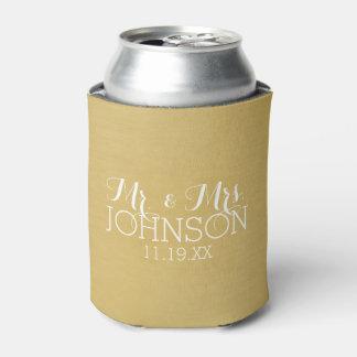 無地の金の氏及び夫人結婚式の引き出物 缶クーラー