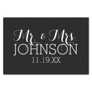 無地の黒の氏及び夫人結婚式の引き出物 薄葉紙