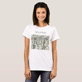 無声スー音のN Fitzのパーティー猫のTシャツ Tシャツ