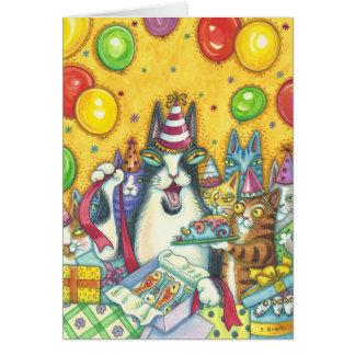 無声スー音のN Fitz猫のハッピーバースデーのメッセージカード カード