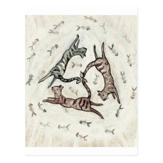 無彩色スケール猫 ポストカード