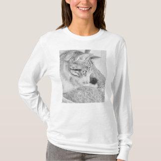 無彩色スケール猫 Tシャツ
