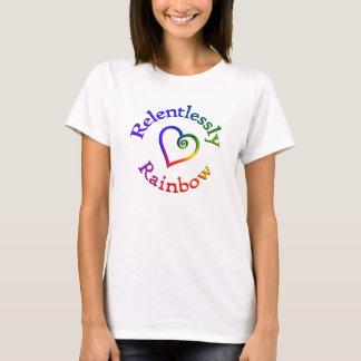 無情に虹のハートのワイシャツ Tシャツ