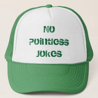 """無意味な帽子- """"無意味な冗談無し"""" キャップ"""