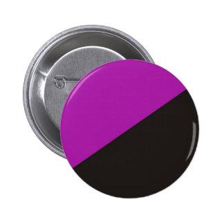 無政府主義者のフェミニズムの旗の紫色の黒い無秩序 5.7CM 丸型バッジ