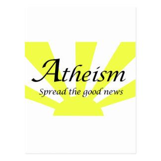 無神論はよいニュースを広げました ポストカード