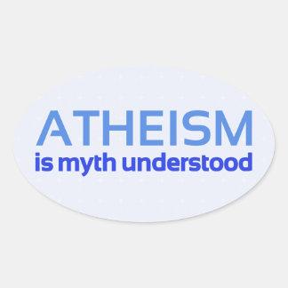 無神論は理解される神話です 楕円形シール